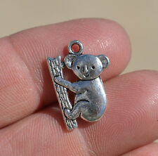 "STERLING silver 20""  necklace KOALA BEAR pendant women charm chain  MOM MOTHER"