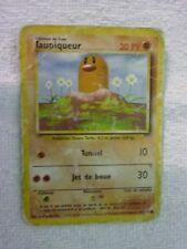 Carte pokémon taupiqueur 47/102 commune set de base wizard mauvais état