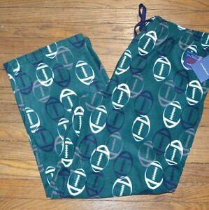 Football Croft & Barrow Brushed Fleece Pants Soft & Warm Lounge PJ