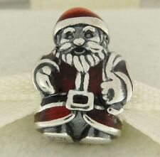Authentic Pandora 791231ENMX St. Nick Santa Enamel Sterling Bead Chrismas Charm