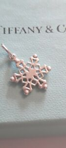 Authentic Tiffany & Co. Rare Silver Snowflake Snow Flake Pendant Charm ONLY