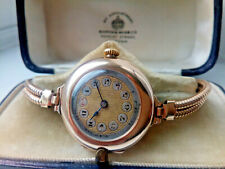 BEAUTIFUL RARE 1916 LADIES SOLID 9K GOLD ROLEX WATCH WITH THE ORIGINAL BOX.