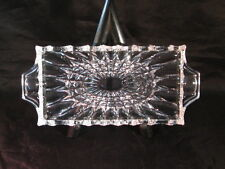 Crystal Rectangle Small Dish with starburst and scallop trim - Very Gently Used