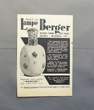 PUB PUBLICITE ANCIENNE ADVERT CLIPPING 100517 LAMPE BERGER PARFUM NARCISSE 1953