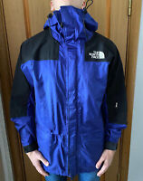 The North Face Gore Tex Vintage Hooded Blue Black Mountain Jacket Size- XL