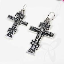 SILBER KREUZ 925 Sterling Orthodoxe Anhänger russisch k82 крест серебрянный