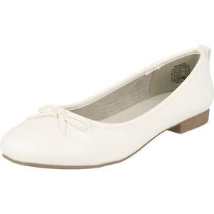 Jane Klain Schuhe 221-071 Damen Taufe Konfii Hochzeit Ballerinas Schleife Weiß