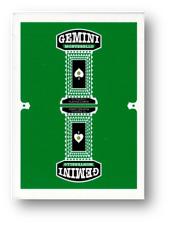 Gemini Casino Playing Cards - Emerald Green Poker Spielkarten Cardistry