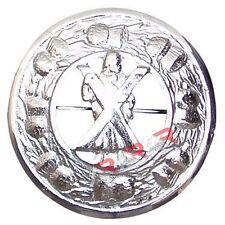 Saint Andrew Brooch Brass Unisex Adult for Kilt Fly Piper Chrome Plaid