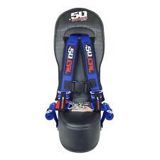 Middle Bump Bench 3rd Seat & Blue Harness - Polaris RZR XP1000 XP 1000 2&4 Door