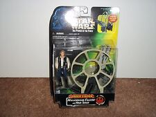 1997 HASBRO--STAR WARS POWER OF THE FORCE--GUNNER STATION W/ HAN SOLO FIGURE