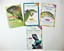Lot of 4 Books Includes the Green Anoles, Green Water Dragon & Leopard Gecko's