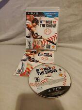 Mlb 12 The Show Perfecto Estado PLAYSTATION 3/PS3 béisbol de Grandes Ligas