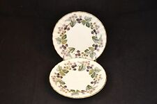 Royal Worcester Lavinia Blackberry Gold Trim Set of 2 Bread and Butter Plates