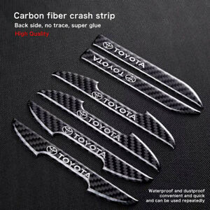 for Toyota car logoCarbon fiber ultra-thin car door edge guard ,rearviewStickers