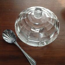 More details for pretty goodden for chance bros 1934 design optic spiderweb sugar bowl, spoon