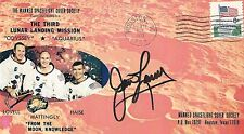 JIM LOVELL APOLLO 13 SIGNED POSTAL COVER  - UACC & AFTAL RD ASTRONAUT AUTOGRAPH