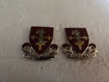 MILITARY INSIGNIA CREST DUI SET OF 2 30TH MEDICAL IN CRUCE MEA FIDES