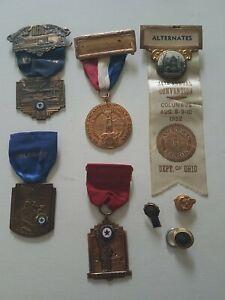 Vfw American Legion Medal Pin Reunion Ribbon Lot Ohio WWII