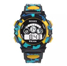 Reloj de pulsera Reloj Pulsera Digital De Cuarzo Alarma Fecha Cronómetro Hombre Niño bgylw)