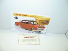 1 record + certify. dinky toys atlas repro ref 24 zt, simca versailles taxi