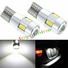 2x Xenon White CANBUS T10 W5W 501 6 SMD Error Free 5630 LED Car Side Wedge Bulb
