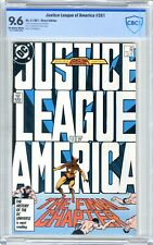Justice League of America  #261  CBCS  9.6   NM+  Off wht-wht pgs 4/87  Last iss