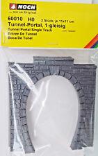Noch 60010 - Échelle H0 - Portail de tunnel, 1-gleisig - 2 pièces -