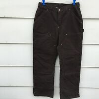 Carhartt insulated pants Artic brown Women's Size 10 Measures 33 x 30
