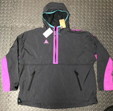 Men's Nike ACG Woven Hooded Jacket Anthracite Size Large 931907 060 NEW Coat