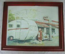 The old Dot's Diner in Bisbee, AZ Framed Water Color Print