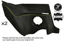 YELLOW STITCHING 2X REAR LOWER PANEL LEATHER COVER FITS RENAULT ALPINE GTA V6