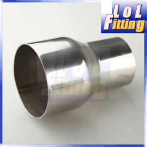 """2.5"""" inch OD To 3.5"""" inch OD Stainless Steel Turbo Exhaust Reducer Adapter Pipe"""