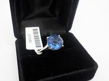 Perfect 6.40 ct! Color Change Blue Fluorite Ring in Sterling ~ size 7 ~ NWT!