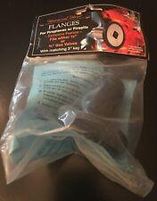 "Blue Flame Universal Decor Fireplace Flange w 3"" Key 1/2 3/4 Gas Valve Black"