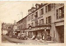 CARTE POSTALE / ALLIER / LAPALISSE HOTEL DE L'ECU ET LE CHATEAU