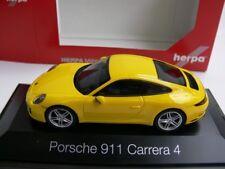 1/43 Herpa Porsche 911 Carrera 4 jaune