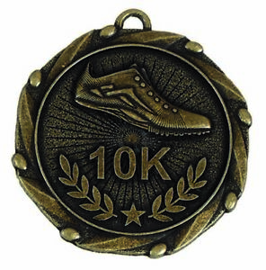 45mm Combo45 10k Run Running Medal with RWB Ribbon (1-100qty) FREE ENGRAVING & P