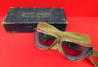 VINTAGE SEESALL FLYING GOGGLES W/RARE BLUE LENSES