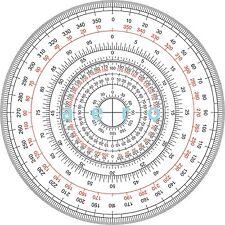 360 Degree protractor 12cm, 60-00, aero BiH