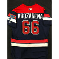 RANDY AROZARENA TEAM ISSUED 2019 ST. LOUIS BLUES THEMED CARDINALS JERSEY SIZE 44