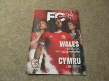 Wales v Denmark 16th November 2018  UEFA Nations League Match Programme