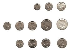 Set of American Dollars Quarters Dimes