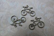 Bicycle charms bronze tone pendant retro vintage style