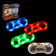 LED RetroLink SNES Style USB Controller for PC & Mac - Red/Green/Blue