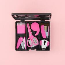 Yoobi 'You Glow Girl' - Mini School Supply Kit SEALED Black Case Pink Supplies