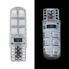 2x T10 194 W5W 2835 SMD COB 12LED Car Super Bright License Light Bulb Amber