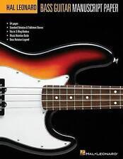Hal Leonard Bass Guitar Tab Manuscript Paper by Hal Leonard Corporation (Paperback, 2010)