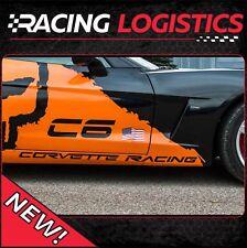2 x CORVETTE RACING 120cm x 4,2cm Aufkleber CHEVROLET ZR1 Z06 C6 C5 C4 Vete Race