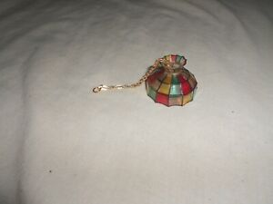VINTAGE DOLLHOUSE MINIATURE KITCHEN HANGING STAINED GLASS TYPE LAMP
